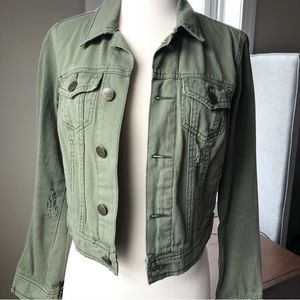 Free People Distressed jacket